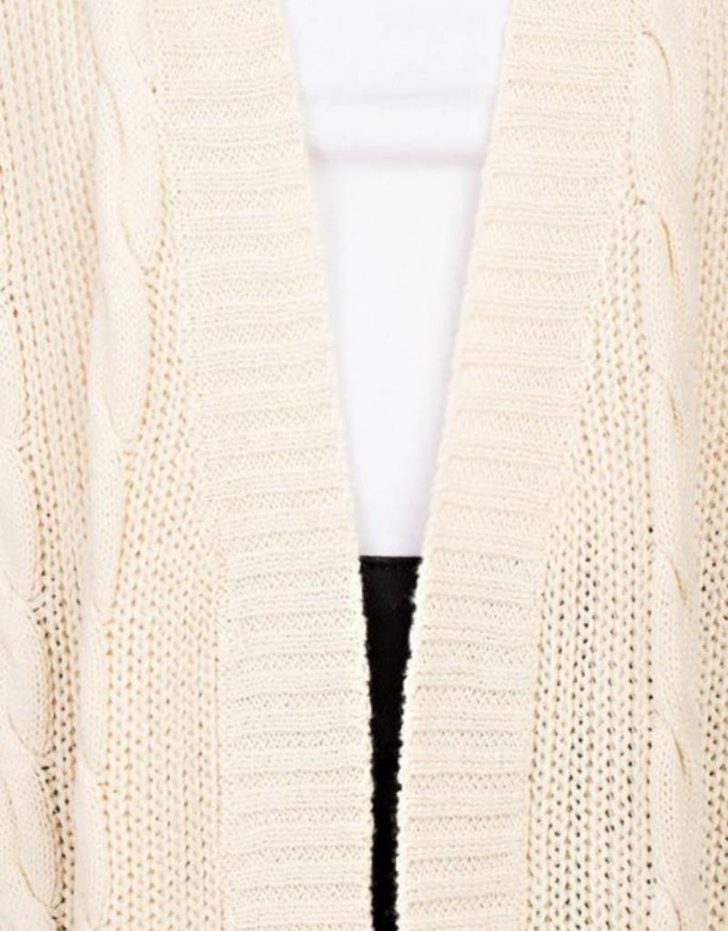 LLOVE Chunky Cable Knit Cardi