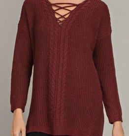 LLOVE Criss-Cross Knit Tunic