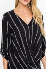 Relaxed Cinched Hem Blouse