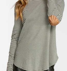 CHERISH Elbow Patch Long Sleeve