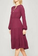 PROMESA Long Sleeve Midi Dress