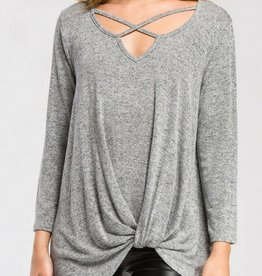 CHERISH Criss-Cross Twist Long Sleeve