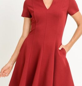 Ruffled Collar A-Line Dress