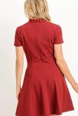 Ruffled Collar A-Line Dress