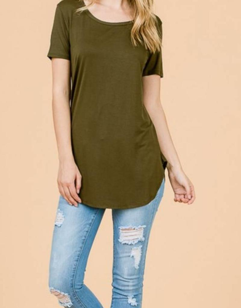 EMMA'S Short Sleeve Tunic Top