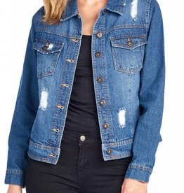 BLUE AGE Distressed Jacket