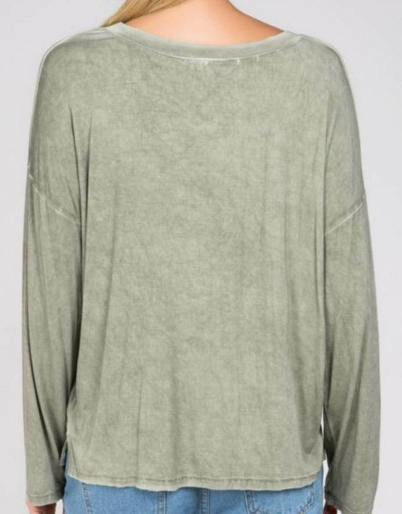 POL Wide Neck Long Sleeve