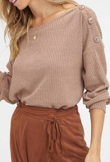 LISTICLE Ribbed One Shoulder Button