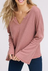 LISTICLE Two Tone Front Keyhole Top