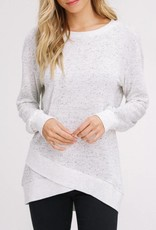 LISTICLE Petal Hem Pull Over