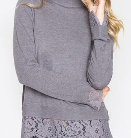 SUGAR LIPS Zola Mock Neck Sweater