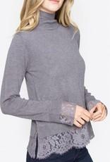 SUGAR LIPS Zola Mock Neck Sweater