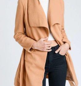 LOVE TREE Wide Collar Coat