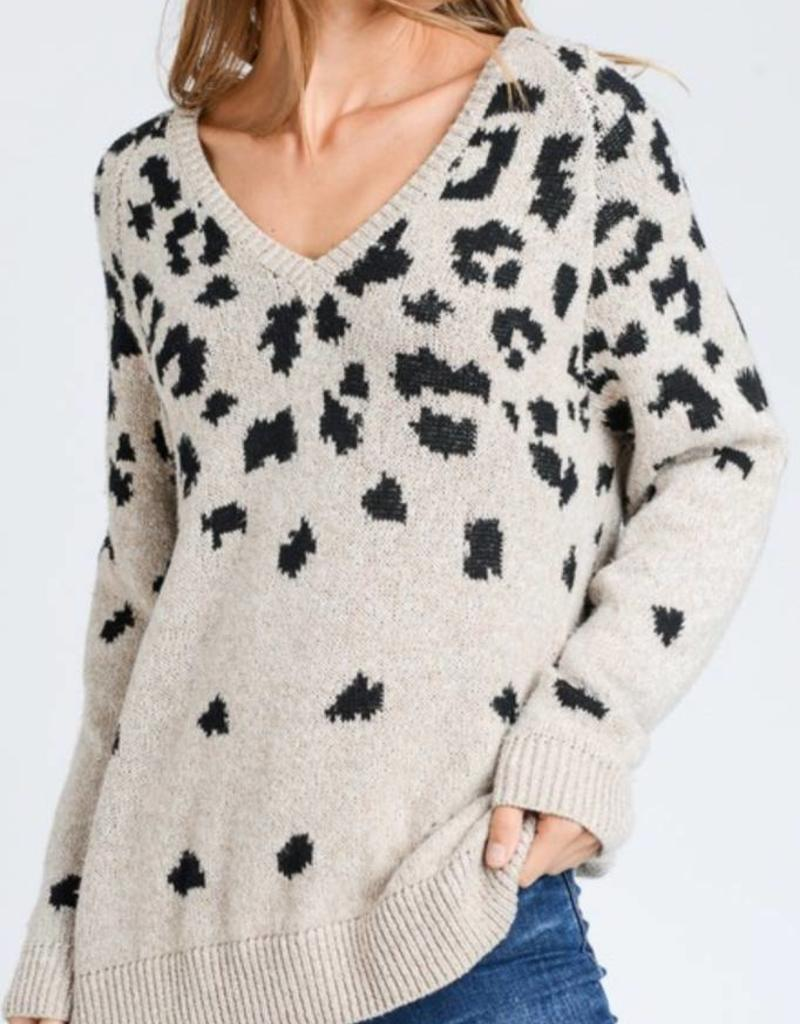 LOVE TREE V-Neck Sweater