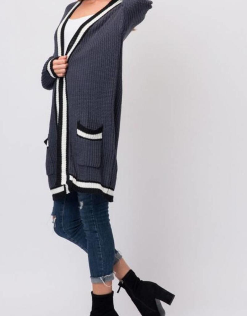 COZY CASUAL Chunky Knit Cardigan