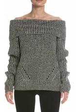 ELAN Off Shoulder Long Sleeve Sweater