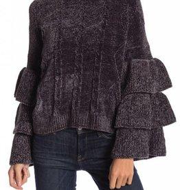 ELAN Ruffle Tier Sweater