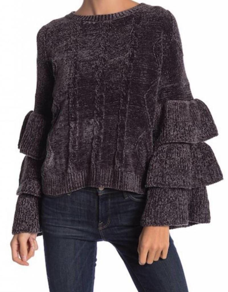 ELAN Ruffle Tier Sweater