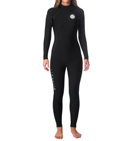 Rip Curl Women's Dawn Patrol 4/3mm Back Zip Wetsuit Black