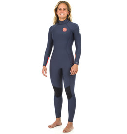 Rip Curl Women's Dawn Patrol 4/3mm Back Zip Wetsuit Navy