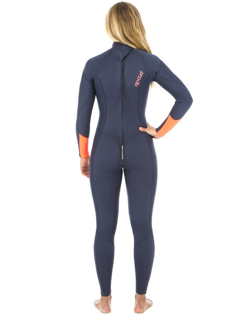 Rip Curl Women's Dawn Patrol 4/3mm Back Zip Wetsuit Navy