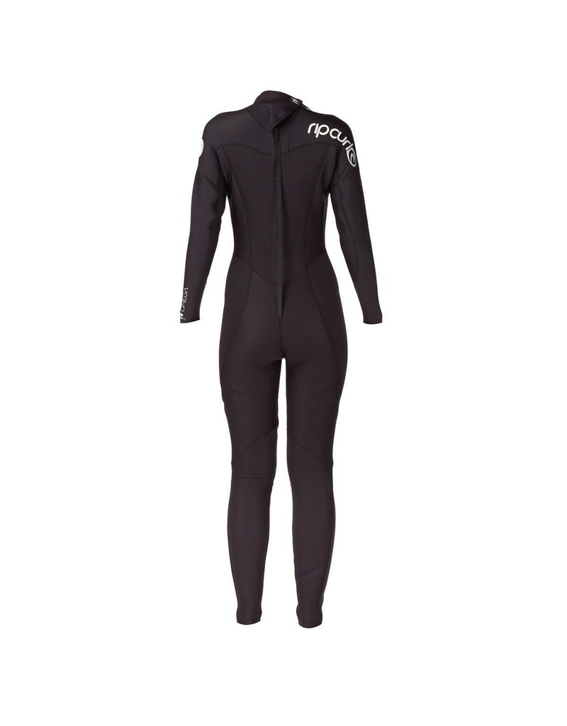 Rip Curl Women's Omega 3/2mm Back Zip Black