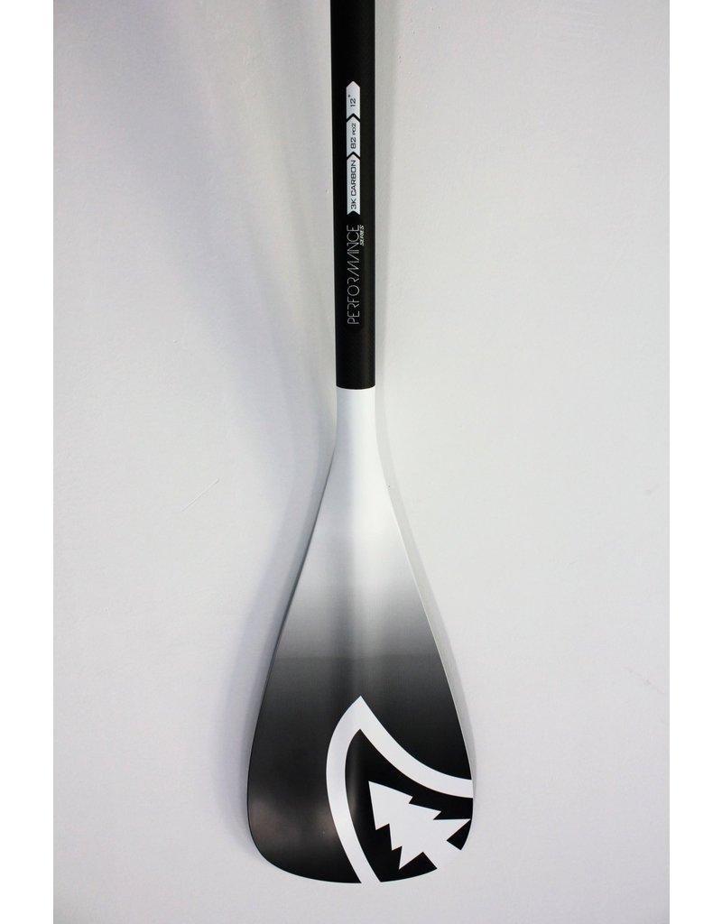 Taiga Pagaie PERFORMANCE - Carbone et blanc (Ajustable 2 et 3 pièces)