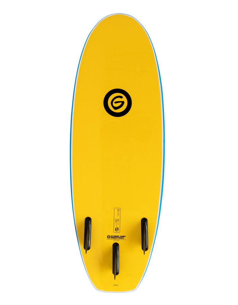 Gnaraloo 4'10 Dune Buggy Blue Yellow