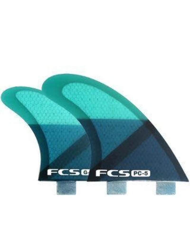 FCS PC-5 Blue Slice Tri-Quad Retail Fins