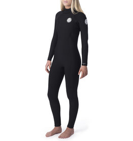 Rip Curl Women's Dawn Patrol 4/3 Back Zip Wetsuit Black
