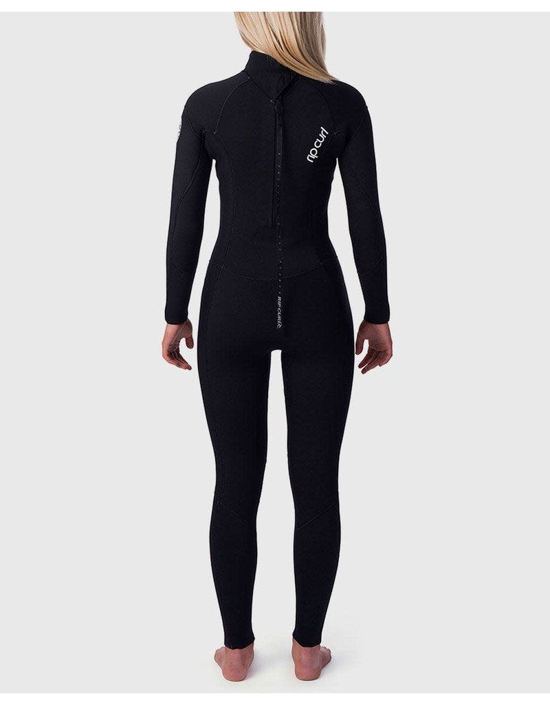 Rip Curl Women's Dawn Patrol 4/3 Back Zip Wetsuit Black
