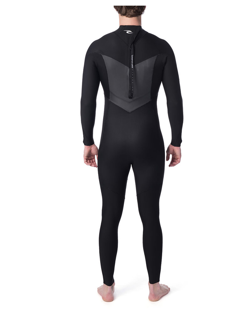 Rip Curl Dawn Patrol 4/3 Back Zip Wetsuit Black