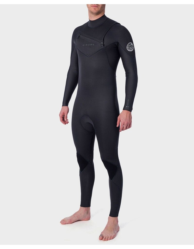 Rip Curl Dawn Patrol Performance 3/2 Chest Zip Wetsuit Charcoal