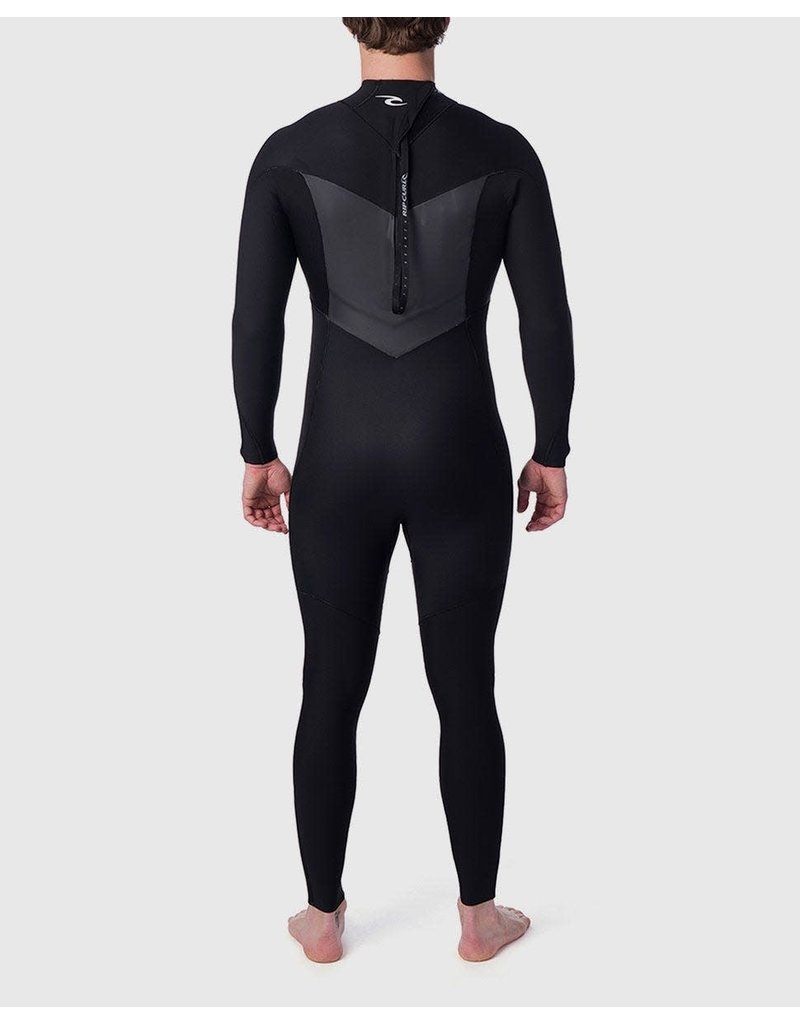 Rip Curl Dawn Patrol Plus 4/3 Back Zip Wetsuit Black