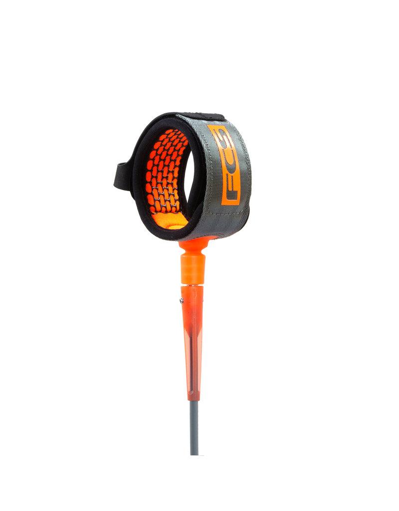 FCS All Round Essential Leash 6' Charcoal/Orange