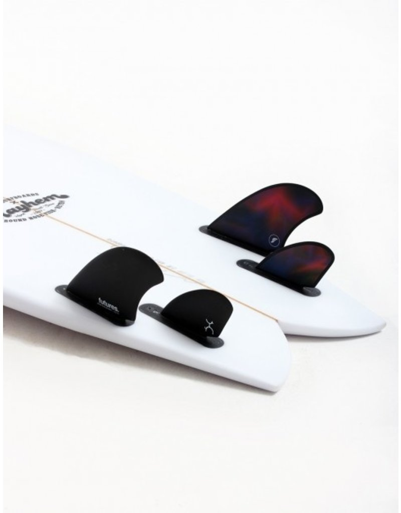 Futures Machado Quad Fin Set-Black/Swirl