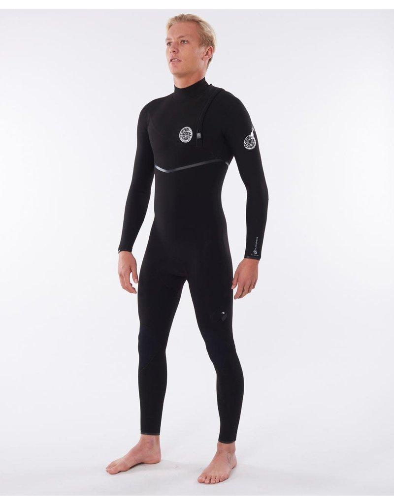 Rip Curl Mens Flashbomb 4/3mm Zip Free Wetsuit Black