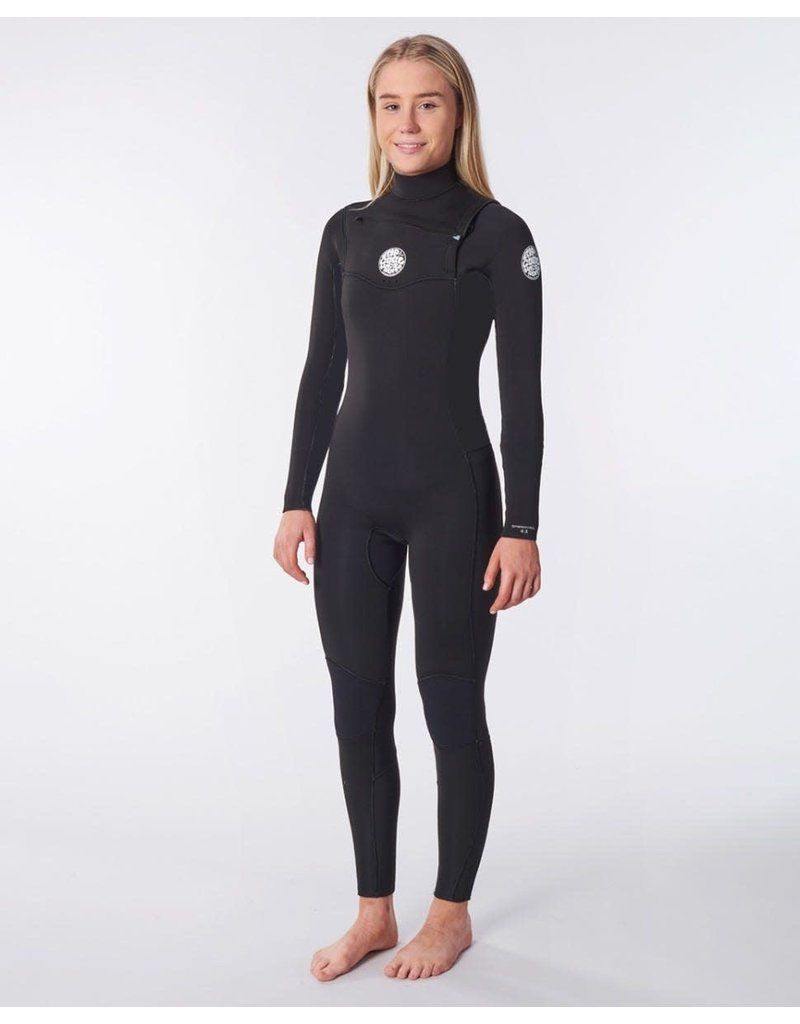 Rip Curl Women's Dawn Patrol 3/2mm Chest Zip Wetsuit Black