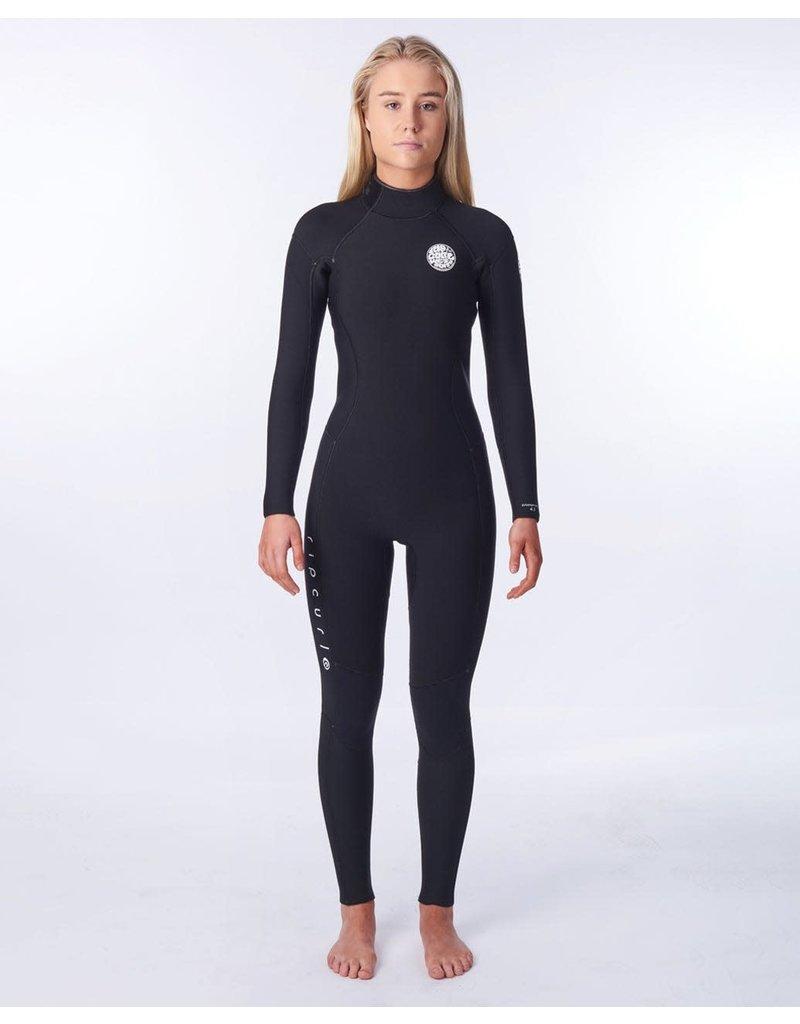 Rip Curl Women's Dawn Patrol 4/3mm Back Zip Wetsuit Black