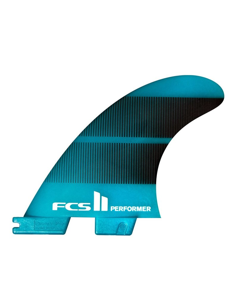 FCS II Performer Neo Glass Teal Tri Fin Set