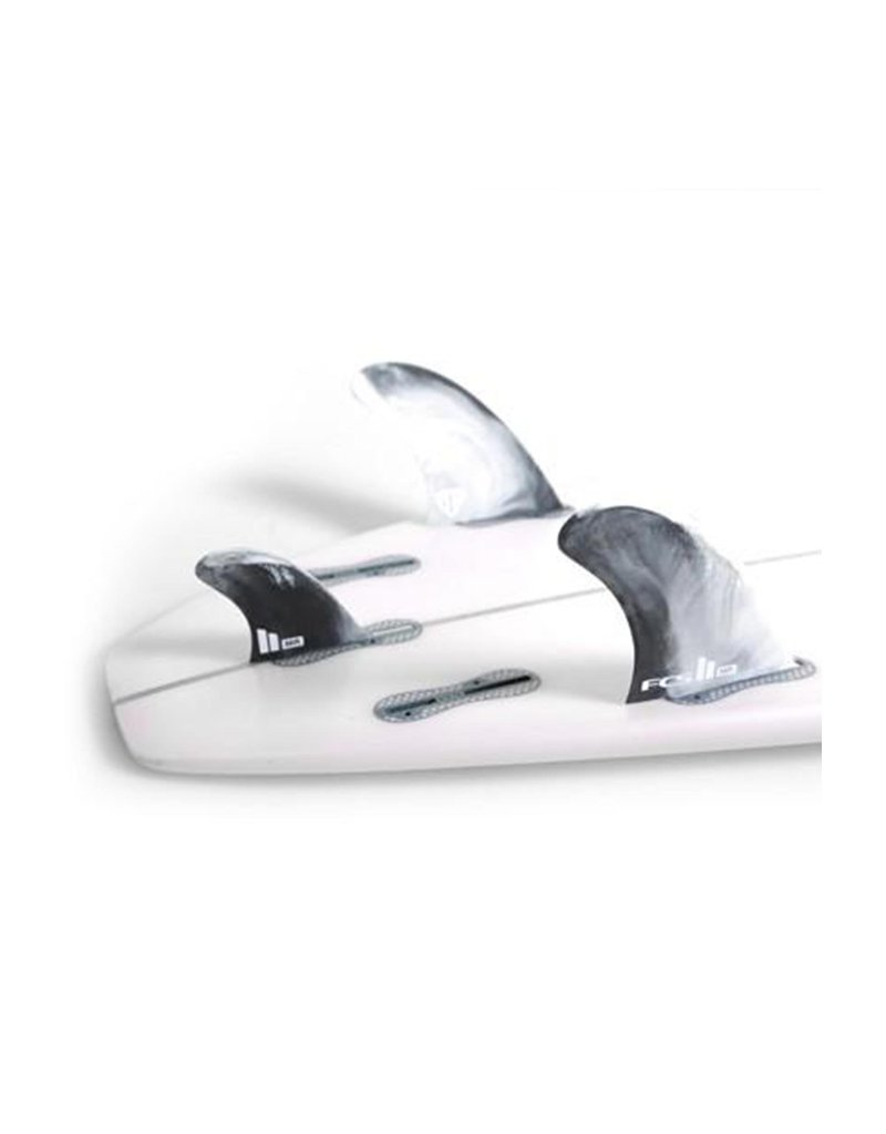 FCS II MR PC Twin + 1 tri fin set Dusty Blue