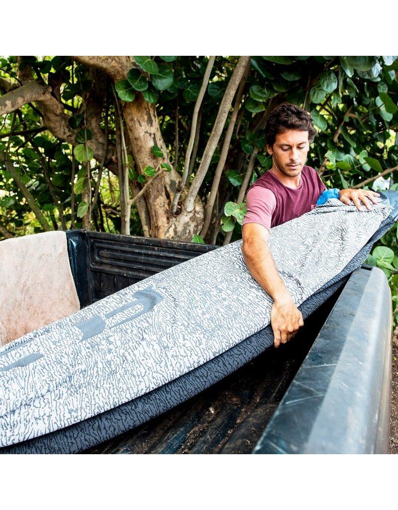 FCS Stretch Funboard Covers Stone Blue
