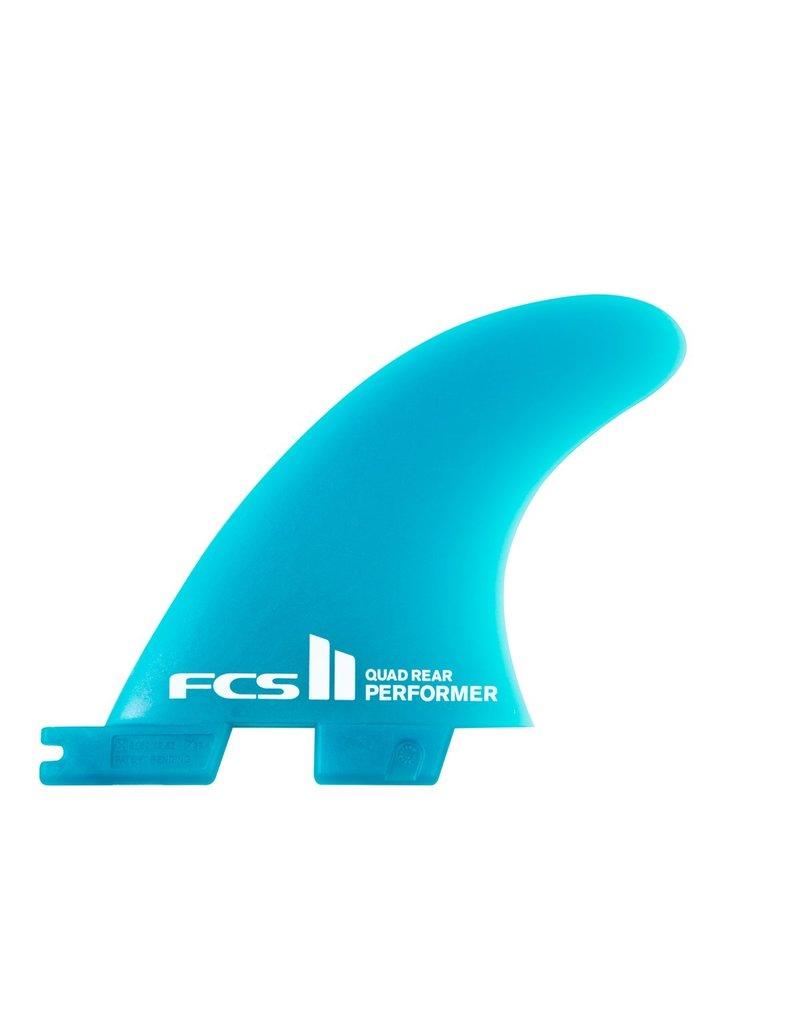 FCS II Performer Neo Glass Teal Tri-Quad Fin