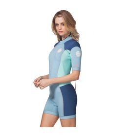 Rip Curl Women Dawn Patrol Springsuit S/S 2mm Blue 2018