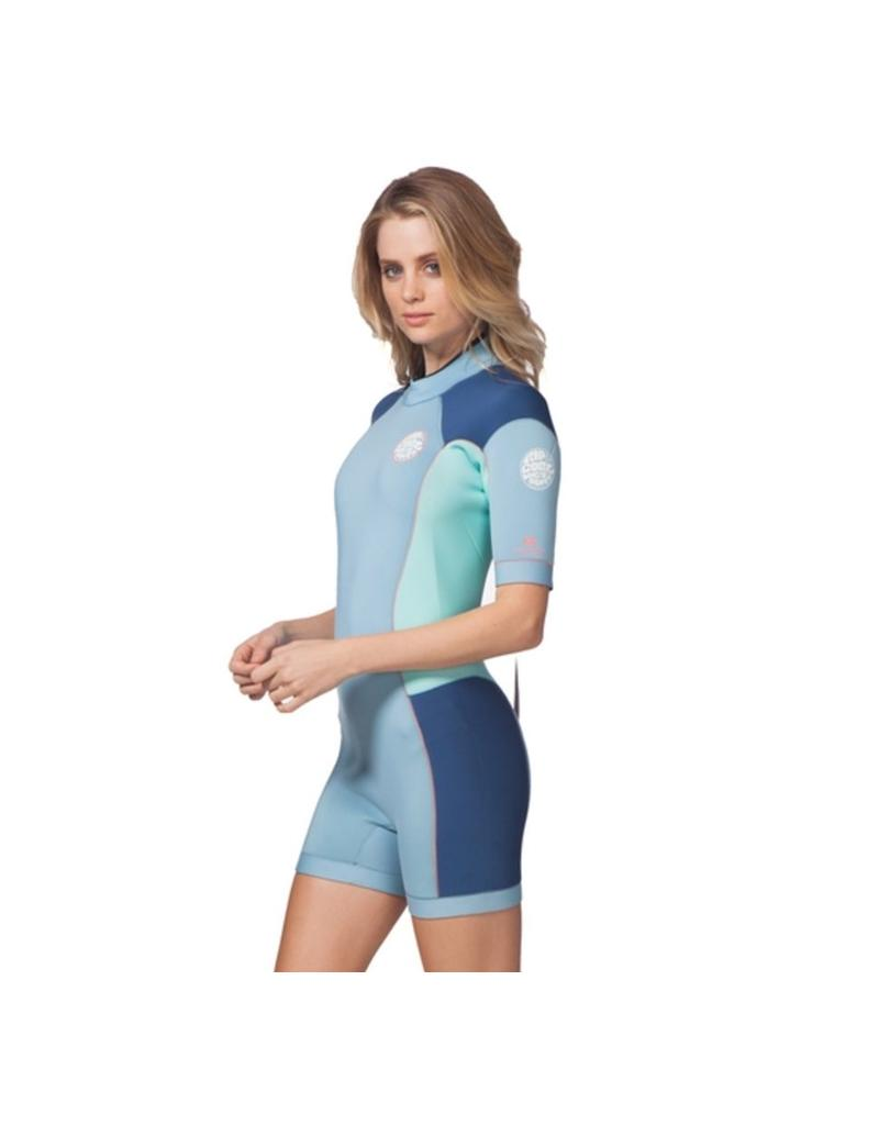 Rip Curl Women Dawn Patrol Springsuit S/S 2mm Blue 2018