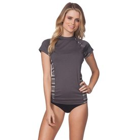 Rip Curl Trestle Cap Sleeve Rash Guard Black