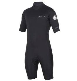 Rip Curl Aggrolite 2mm Back Zip S/S Springsuit Black