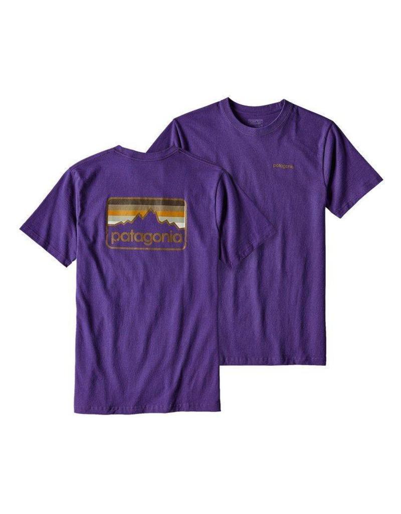 Patagonia M's Line Logo Badge Cotton/Poly Responsibili-tee Purple