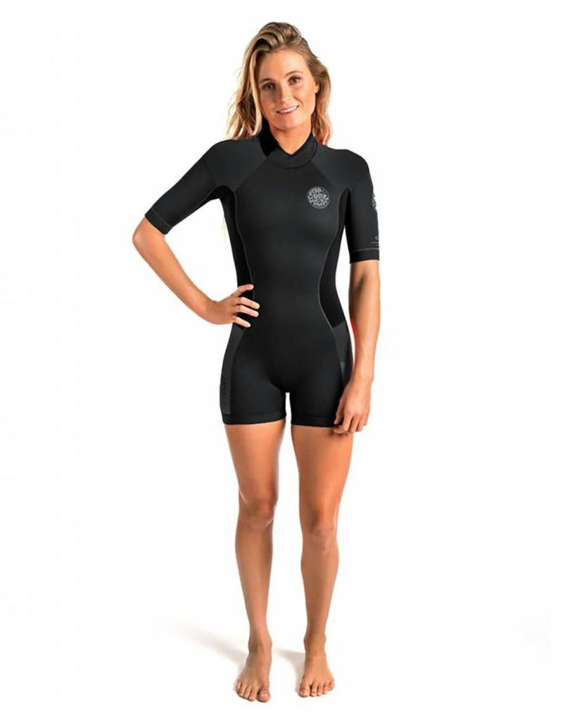 Rip Curl Women Dawn Patrol S/SL 2mm  Springsuit Black