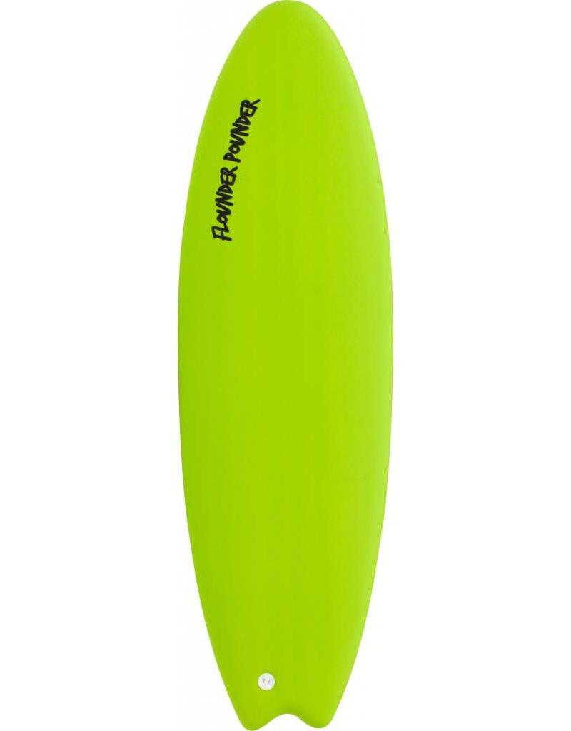 Gnaraloo 5'6 Flounder Pounder Lime / Silver